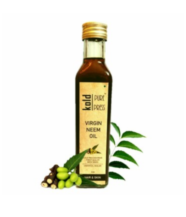 Kold Pure Press Virgin Neem Oil | Cold Pressed | Comes in Glass Bottle | Size 250 ml