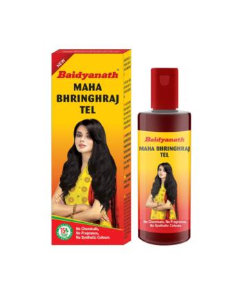 Baidyanath Mahabhringraj Tel - 200ml - Ayurvedic Hair Oil, No Added Chemicals or Fragrance