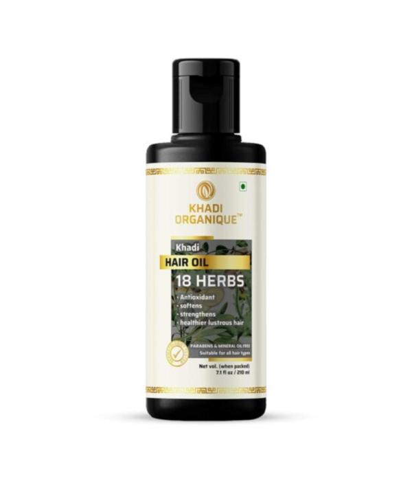 Khadi Organique 18 Herbs Herbal Hair Oil-210Gms