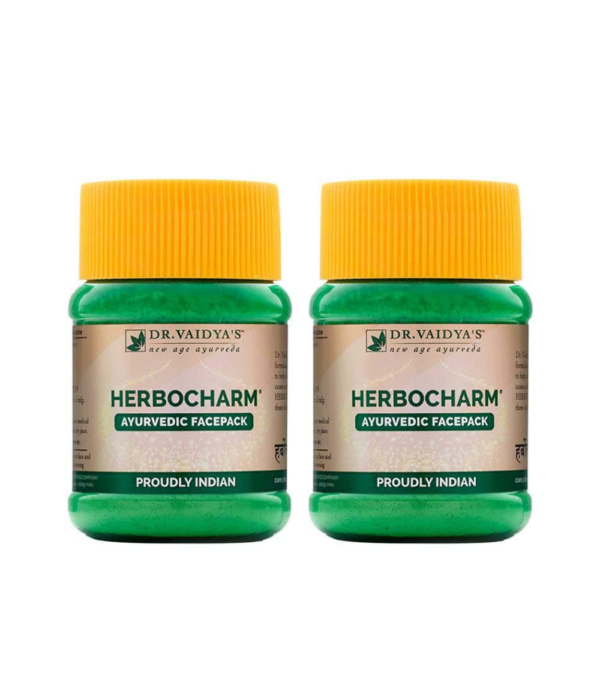 Dr. Vaidya's Herbocharm Face Pack Powder For Glowing Skin, 50 gms Each (Pack of 2)