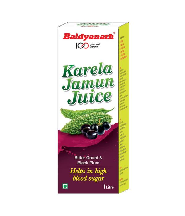 Baidyanath Karela Jamun Juice - Helps Maintain Healthy Sugar Levels - 1L