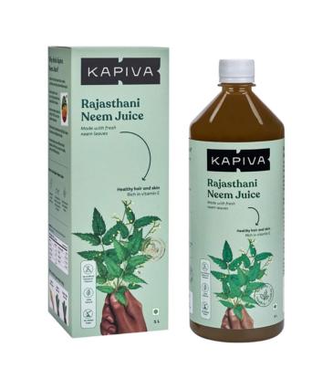 Kapiva Rajasthani Neem Juice | Natural Juice made from Fresh Neem Leaves | Healthy Hair & Skin | No Added Sugar, 1L