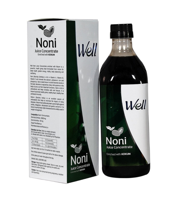 Modicare GREEN ORGANICS Modicare Well Noni Juice with Enriched Kokum Fruit (Sugar Free)-1000Ml