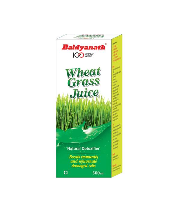 Baidyanath Wheatgrass Juice - Natural, Herbal Detoxifier - 500ml
