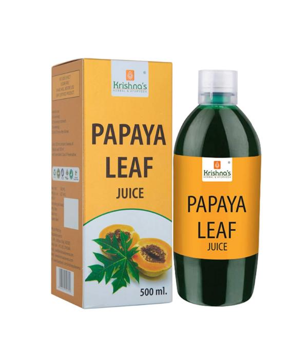 Krishna's Herbal & Ayurveda Papaya Leaf Juice - 500 ml (Pack of 1)