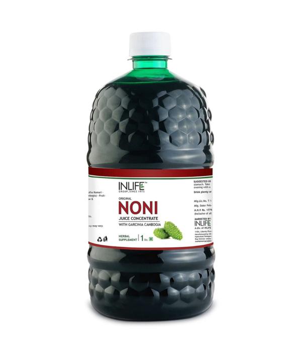 INLIFE Noni Gold Fruit Juice Concentrate plus Garcinia & Aloe Vera Liquid Drink, 1 Litre Family Pack
