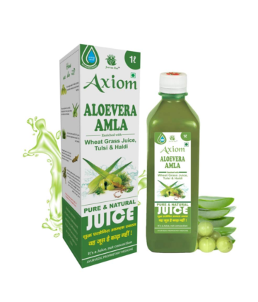 Axiom Aloevera Amla Juice 1000ml | Boosts Immunity | Purifies Blood | Relieves From Constipation | Improves Eyesight | 100% Natural WHO GMP, GLP Certified