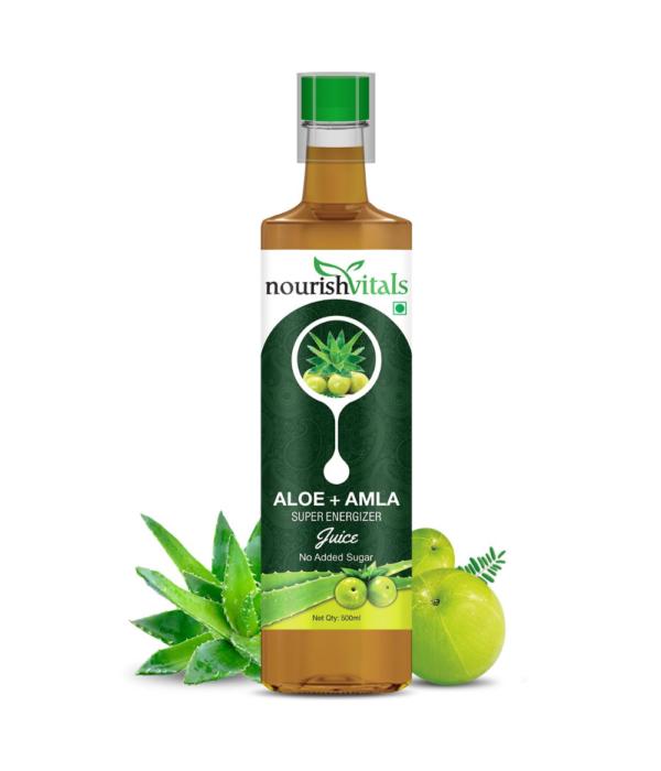 NourishVitals Aloe Vera + Amla Super Energizer Juice - 500 ml