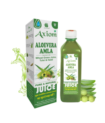 Jeevanras Axiom Aloevera Amla Juice 1000ml | Boosts Immunity | Purifies Blood | Relieves From Constipation | Improves Eyesight | 100% Natural WHO GMP, GLP