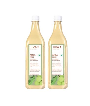 Jiva Amla Juice - 500ml | Pack of 2 Boosts Digestion And Immunity | Rich Source of Vitamin C | Effective in Hair, Skin, Eye, Dental & Digestive Problems