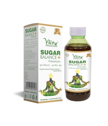 Vitro Naturals Sugar Balance+ Premium Juice 1L | Herbal Formula for Diabetes Care | Healthy Blood Sugar Support