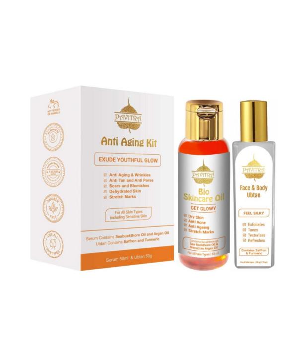 Pavitra+ Anti Aging Kit With Advanced Ayurvedic Formula, Orange,