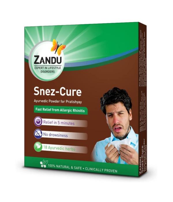 Zandu Snez Cure for Nasal Allergy - 6 Sachets