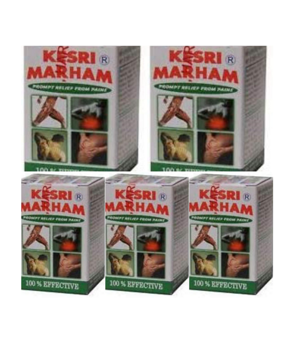 Ayurvedic Kesri Marham Balm for All Pain and Joint Care (100 g) - Pack of 6