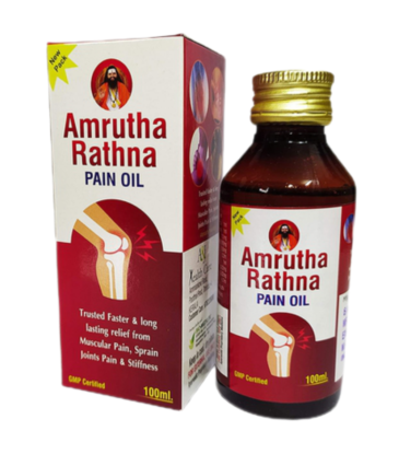 A & J HEALTH CARE Amrutha Rathna Pain Oil (100 ml)
