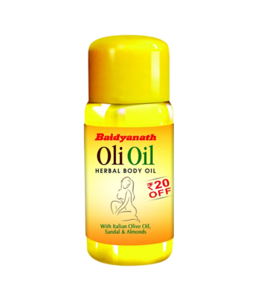 Baidyanath Oli Oil - Pure Olive Oil with Sandalwood and Almonds - 200ml (Pack of 2)