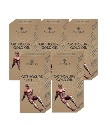 CRD Ayurveda Orthosure Gold Joint Pain Arthritis Oil - 30 ml (Pack of 5)
