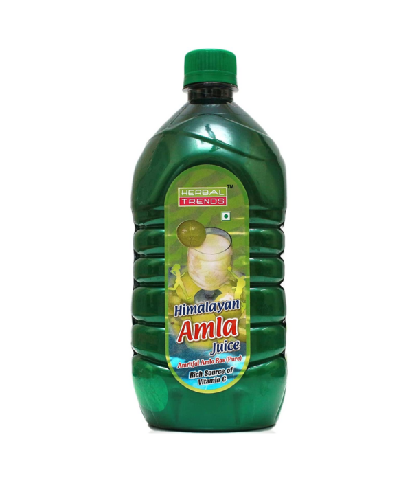 Herbal Trends Pure Amla Juice 1 Litre -Made from Himalayan Amla Fruit- Amla juice for drinking
