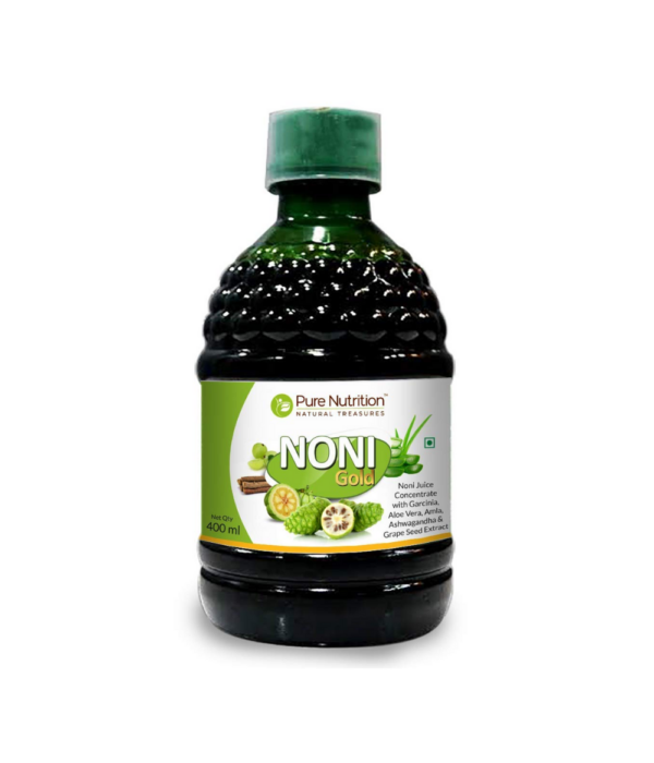 Pure Nutrition Noni Gold Noni Juice Concentrate with Garcinia,Aloe vera, Amla,Ashwagandha and grape seed Extract- 400ml