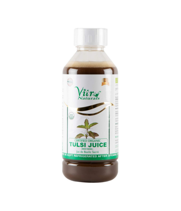 Vitro Naturals Organic Tulsi Ras | Tulsi Juice | Ayurvedic Herbs | Certified Organic Juice (1 L)