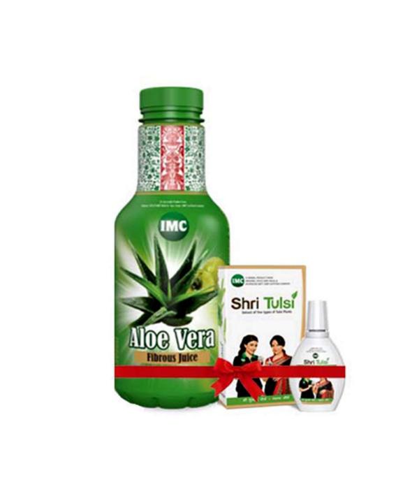 Imc Aloe Vera Fibrous Juice With Shri Tulsi - Combo Pack