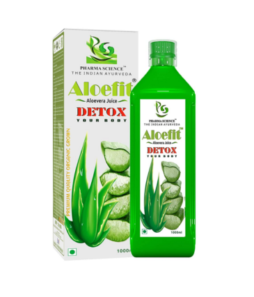 Pharma Science Aloe Vera Juice with Rich Fiber, All-Rounder Tonic for Skin and Hair : 1 L